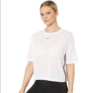 Nike Pro Dri-Fit Short Sleeve Cropped Top NEW